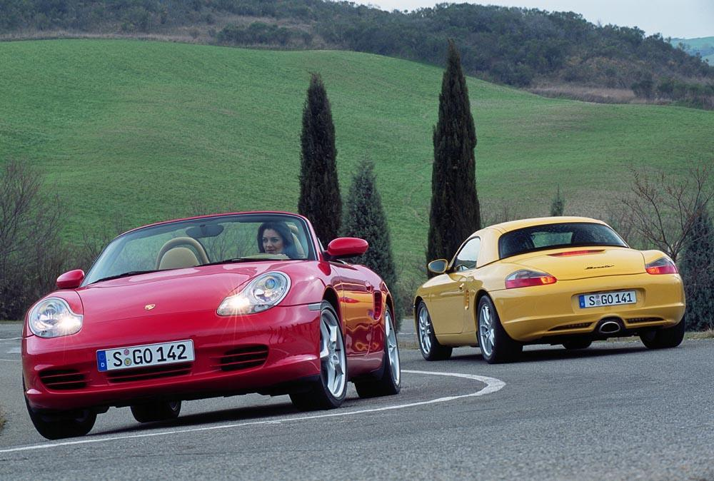 Porsche boxster 986 s rouge jaune