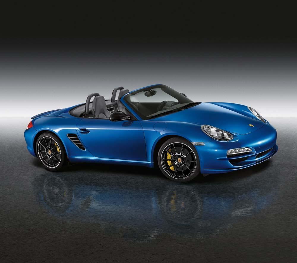 Porsche boxster s 987 bleu