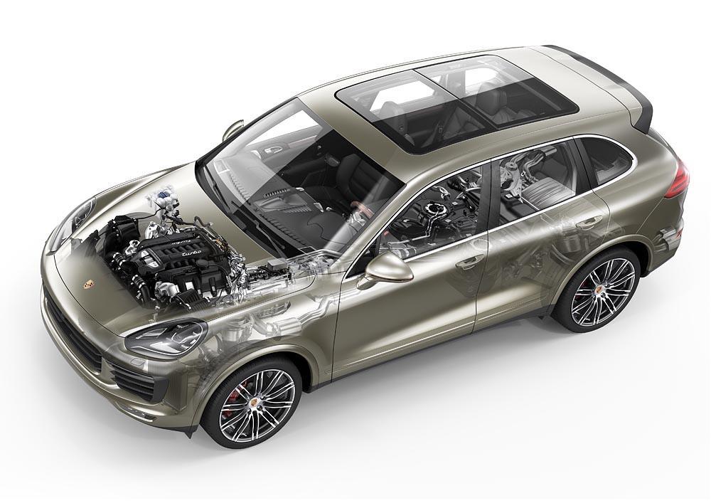 Porsche cayenne cutaway