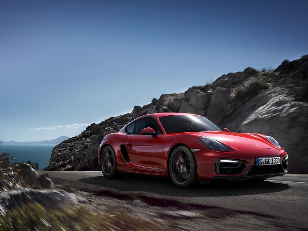 Porsche cayman 981 gts rouge avant