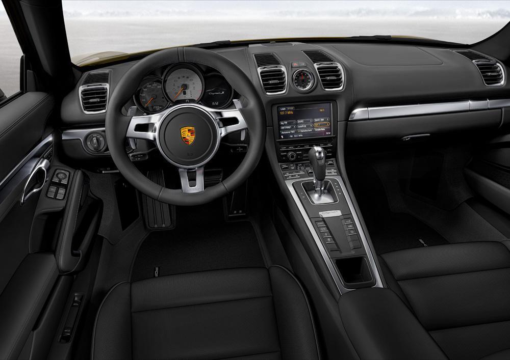 Porsche cayman 981 interieur noir
