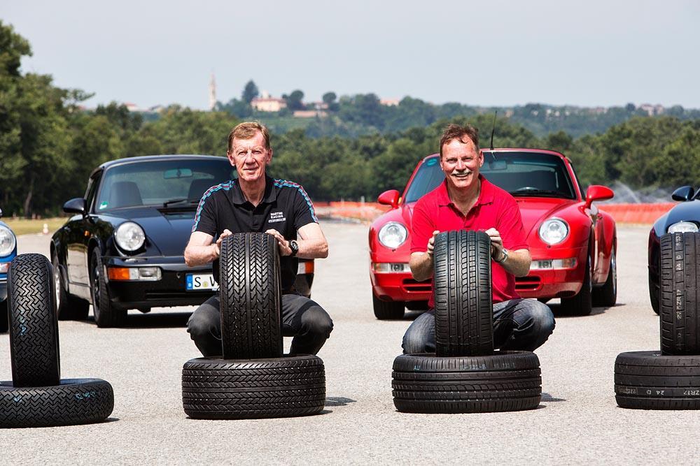 Porsche classic tyres testers