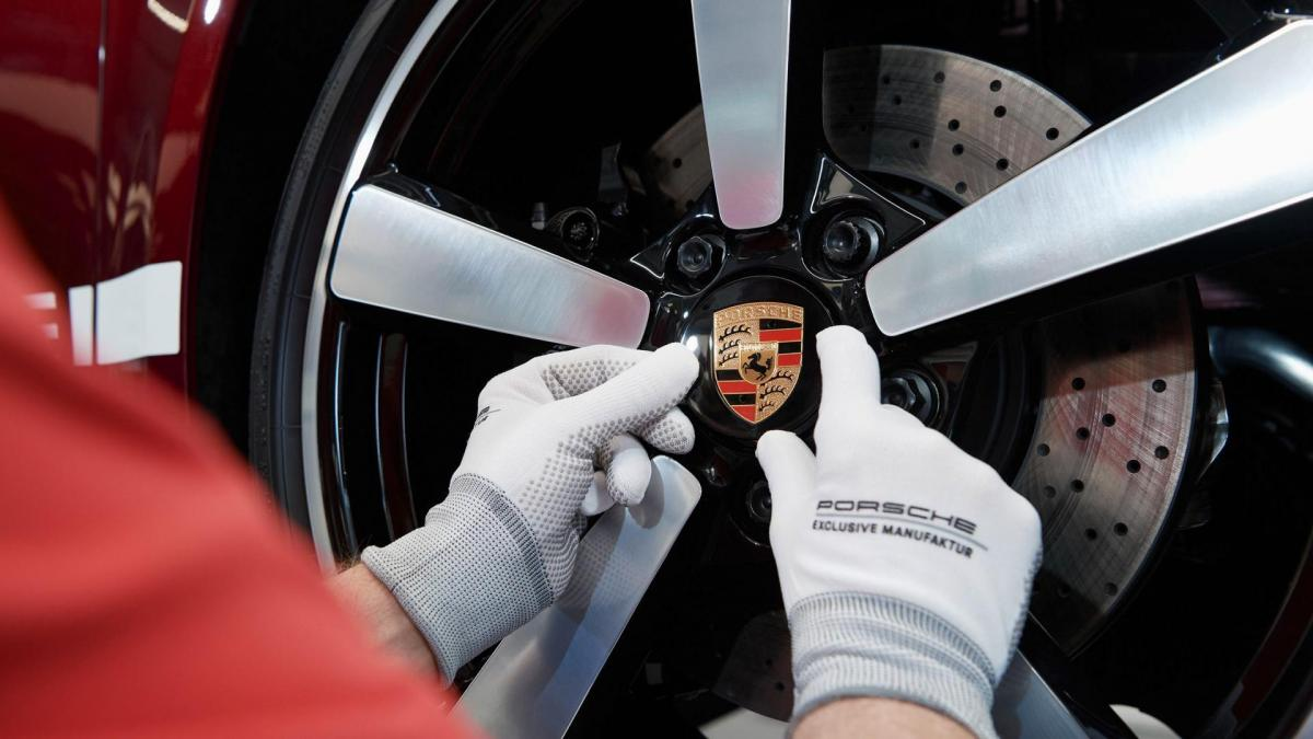Porsche jantes peintes