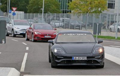 Porsche mission e dev against tesla