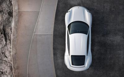 Porsche mission e top view