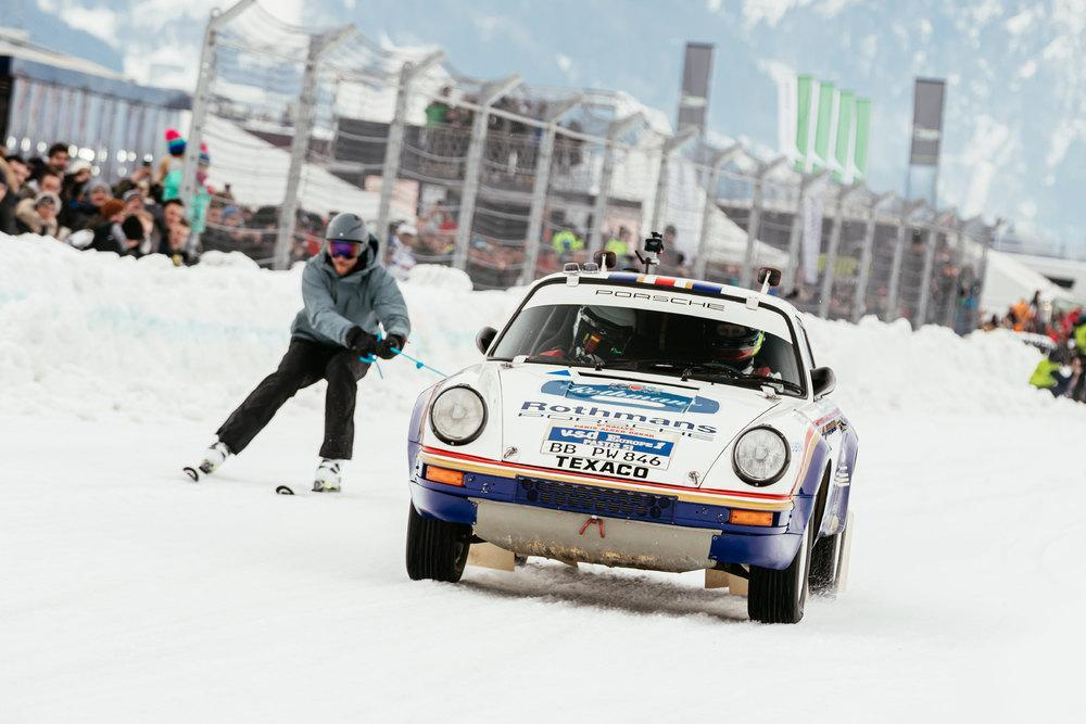 Porsche Ice Race Rothmans ski