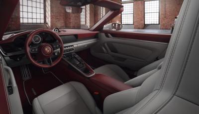 intérieur bordeaux craie porsche turbo S